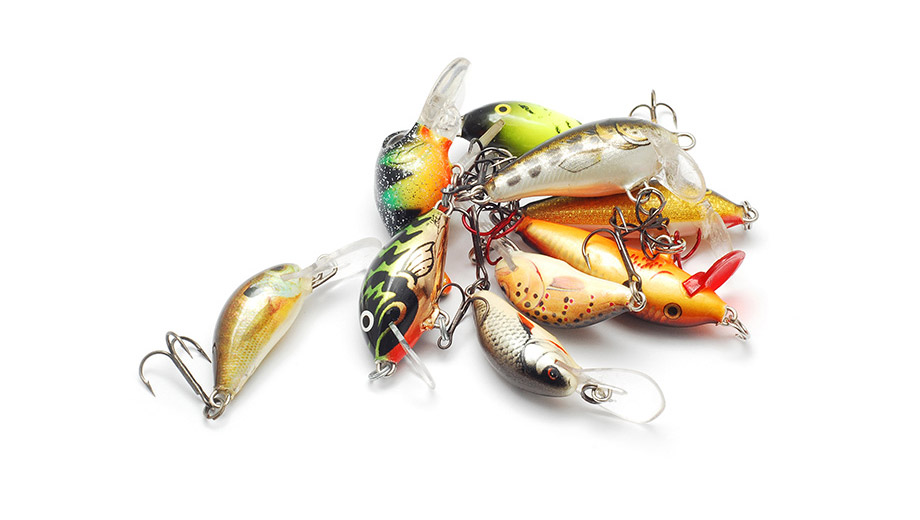 colourful fishing lures