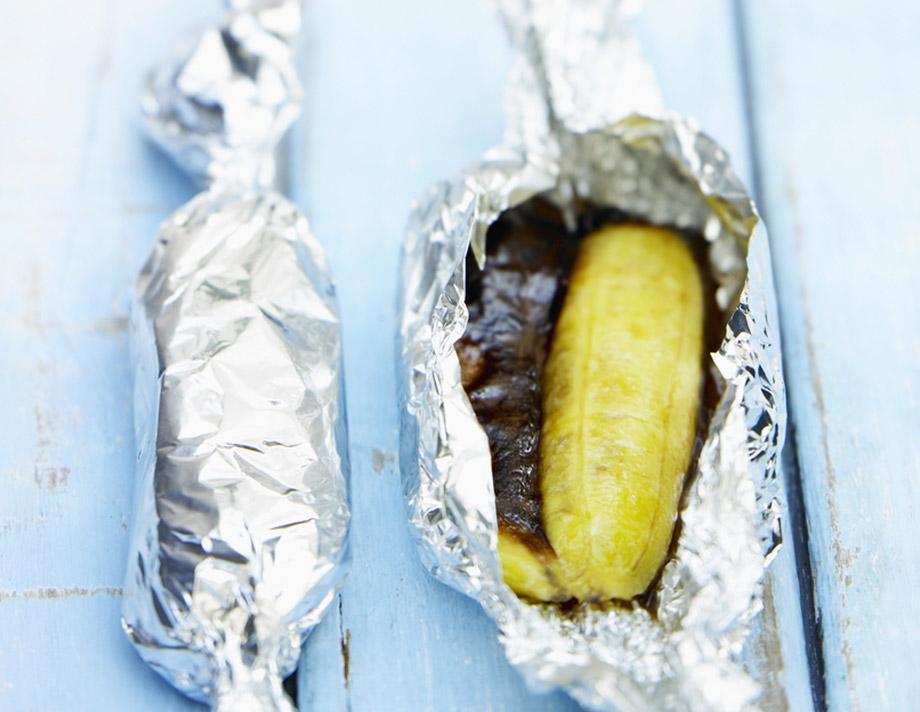 bananas in foil