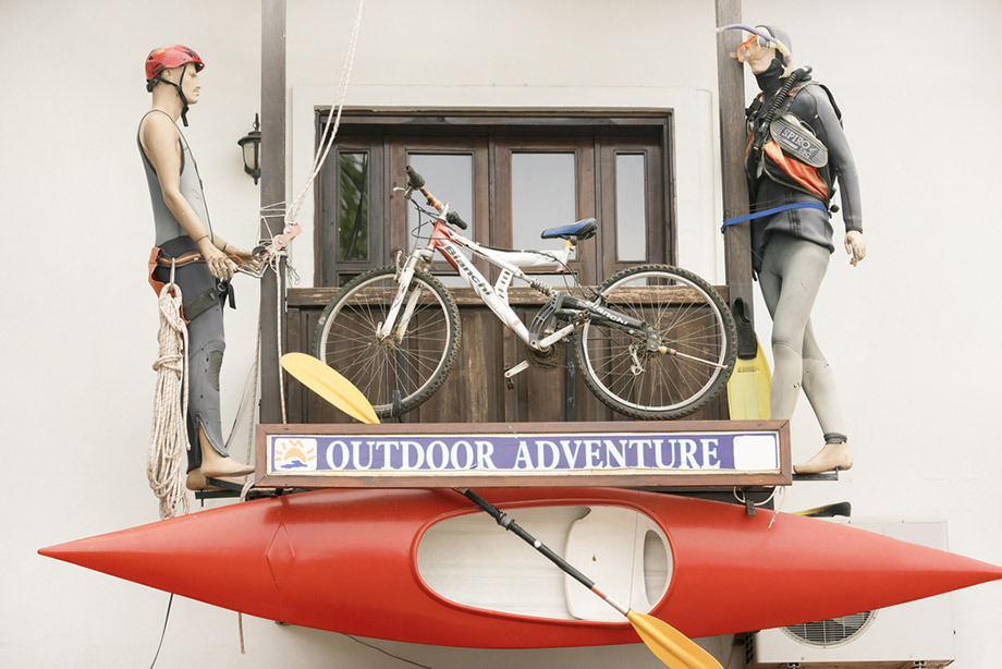 kayak shop window
