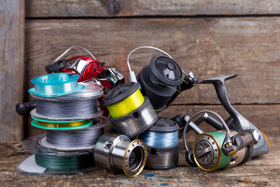 Several Fishing Reels Fishing Line Spools