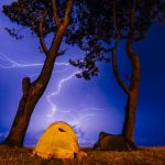 STAYING SAFE WHEN CAMPING DURING A THUNDERSTORM