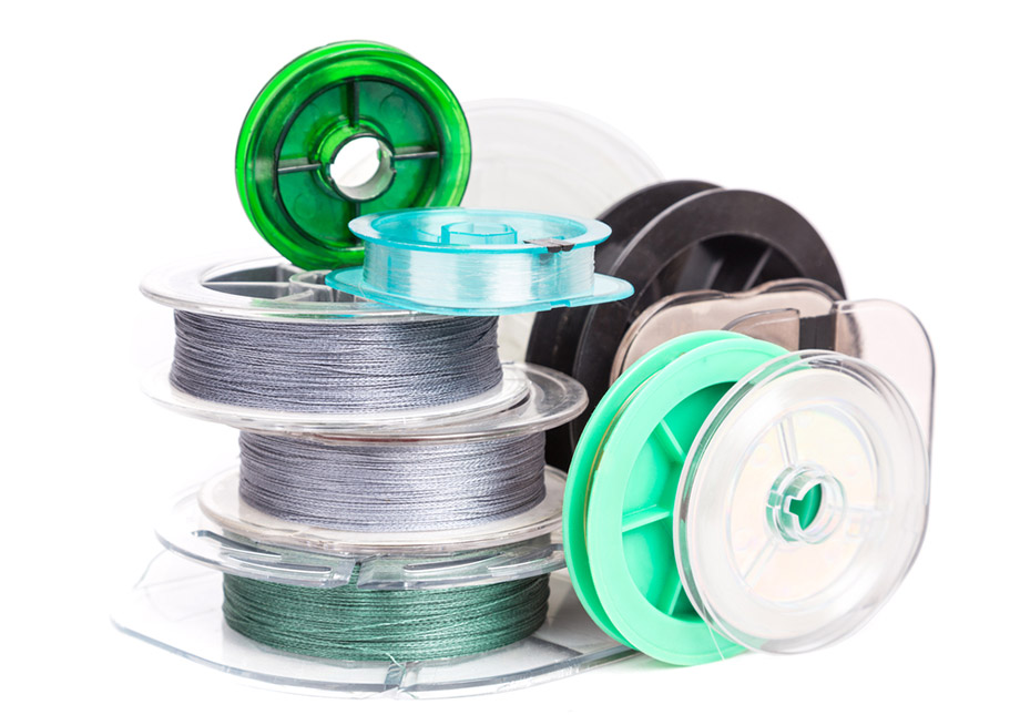 spools of fishing line