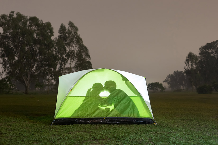 Couple In Tent