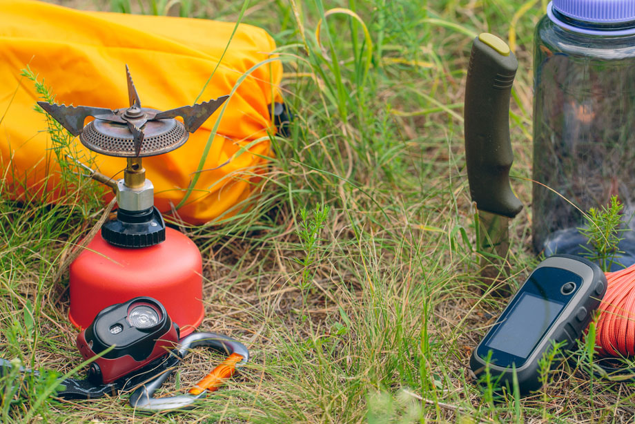 Camping Gear On Grass