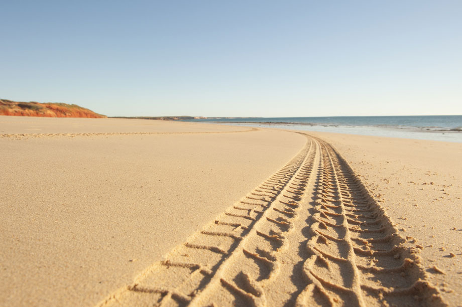 4wd Track In Sand