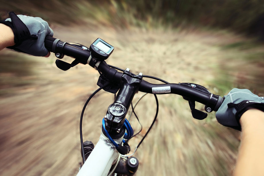 Handle Bar View Mountain Bike