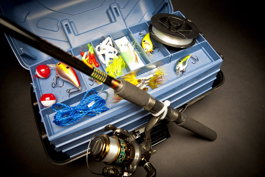 Fishing Tackle Box And Fishing Essentials