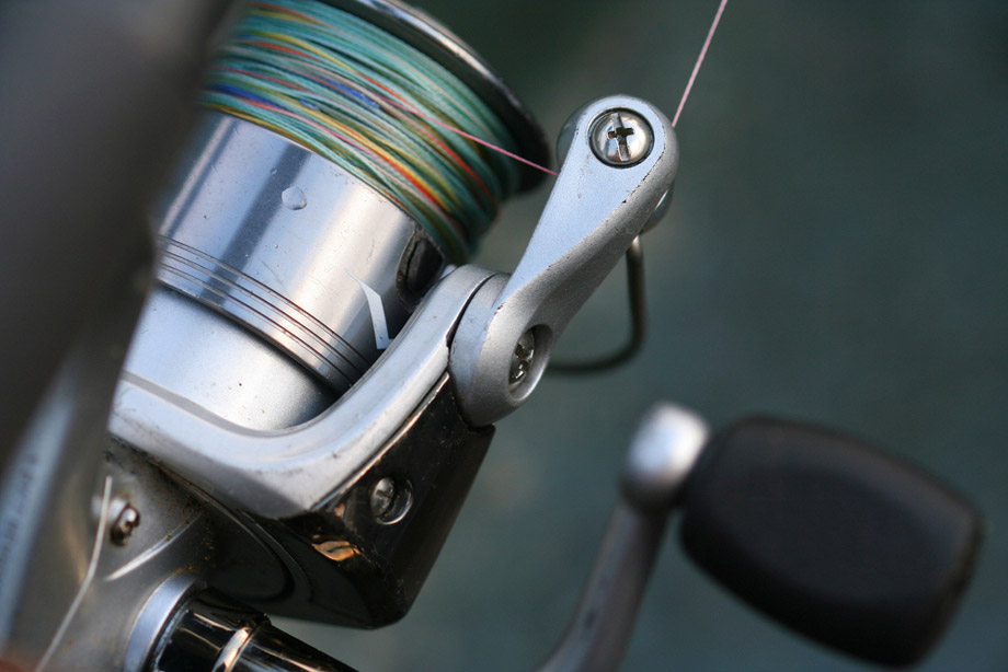 Close Up View Of Reel And Fishing Line
