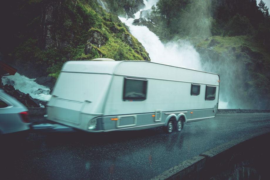 Caravanning In The Rain