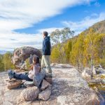 Man And Woman Enjoying Views From Outback Close To Canberra
