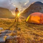 Man Camping Alone In The Great Outdoors