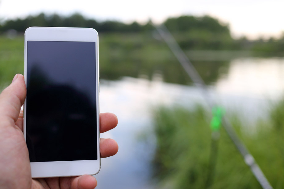 Smartphone Used While Fishing
