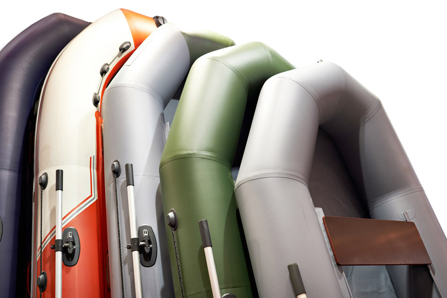 Stackof Inflatable Boats